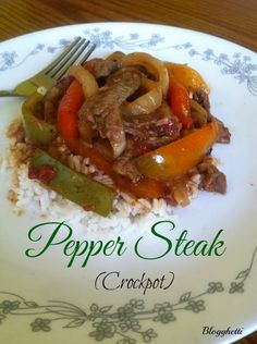 Pepper Steak (Crockpot)