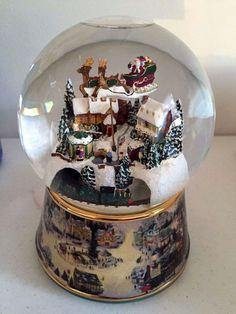 Thomas Kinkade Christmas Animated Musical Snowglobe Ardleigh Elliott #A8556 COA #BradfordExchange