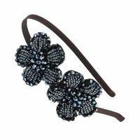Lila Perle Blumen Elastic Band Haarschmuck Haarreif Für Lady Frauen Mädchen