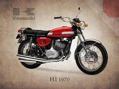Kawasaki H1 1970 Print By Mark Rogan