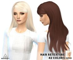 Alesso hair retextures at Miss Paraply via Sims 4 Updates