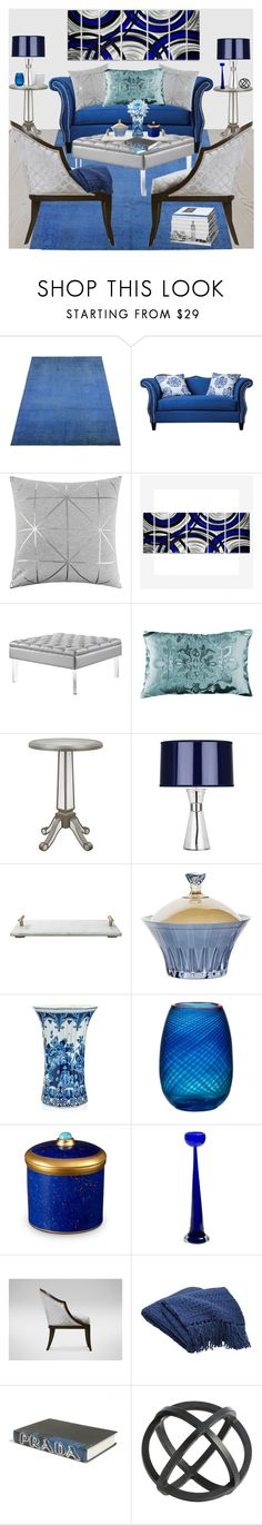 """""""Blue and Gray!"""" by bevmardesigns ❤ liked on Polyvore featuring interior, interiors, interior design, home, home decor, interior decorating, Furniture of America, Bloomingville, Lili Alessandra and Décor Therapy"""
