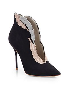 Sophia Webster - Tia Suede Feather-Embroidered Ankle Boots