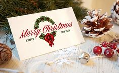 Christmas New Year Card Mockup by Amris on @creativemarket