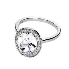 Clear Cubic Zirconia Cocktail Ring #Ring #CocktailRing #Stone #Silver #SilverRing #Jewellery