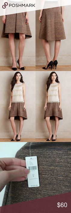 39e548d0070 Anthropologie HD in Paris Glistened Sweater Skirt Awesome color combo  ...gold with dark