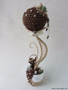 Be Inspired: Styrofoam, coffee beans, wire, faux pearls to design your own.