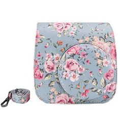 Elvam-Vintage-Flower-Floral-PU-Leather-Fujifilm-Instax-Mini-9-Mini-8-Mini-8-Instant-Film-Camera-Case-Bag-w-a-Removable-Bag-Strap