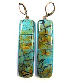Fabulous Faux Collection - King Manassa Mosaic Turquoise Earrings