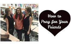 How to Pray for Your Friends Prayer is a powerful thing. Having a solid prayer life is essential in strengthening your faith, and it can get you through the toughest of times. I must confess, when life gets hard I have no problem praying for what I want and need, but when my friends are going through tough times Im not as...  Read More at http://www.chelseacrockett.com/wp/theword/how-to-pray-for-your-friends/.  Tags: #TheWORD, #Bible, #BibleVerses, #BibleVersesForYourFri