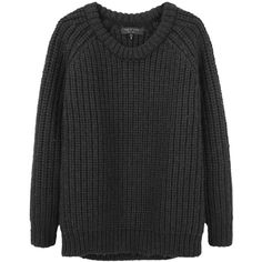 Rag & Bone Kirby Crew (3,480 EGP) ❤ liked on Polyvore featuring tops, sweaters, jumpers, shirts, women, chunky sweater, oversized shirt, crew neck long sleeve shirt, crew shirt and oversized long sleeve shirt