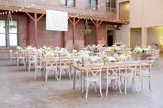 440 Seaton - Love the greenery hanging from the 2nd story!  Romantic Warehouse Wedding | Megan Hayes Photography | Bridal Musings Wedding Blog 18