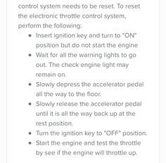 2008 Jeep Grand Cherokee Loredo Warning Light Lightning Bolt To Reset The Electronic Throttle Control System Perform Following Tasks