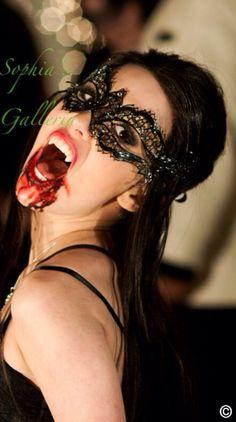 Halloween Vampire Diaries Elena Costume Mask Masquerade Ball Venetian party laser cut metal Masks w/ crystal rhinestones