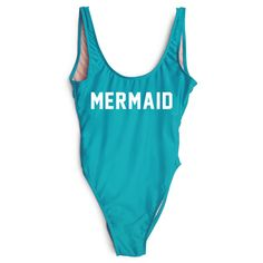 Women's MERMAID Bodysuit | One Piece Swimsuit Monokini – Rave Rebel