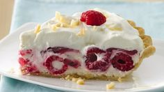 Pillsbury® pie crust, macadamia nuts, raspberries and cream cheese filling come together in this delightful pie - perfect dessert to treat your family.