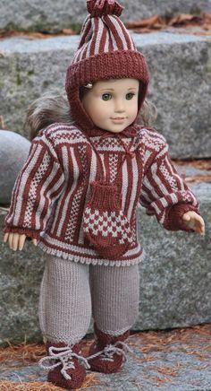 вязать куклы одежду с узорами вязание дизайн Målfrid в
