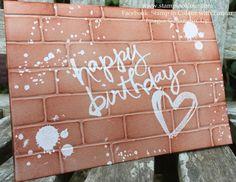 Stampin Up Watercolor Words Brick Wall