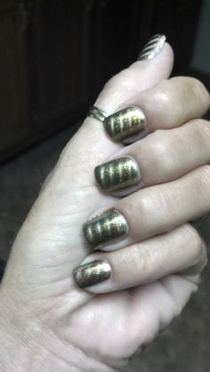Who else loves Diane Graham's Nabi Gold Magnetic polish-adorned custom-fit nails?! Follow Diane at http://pinterest.com/simmi5/ to see all her fab nail art, and get your own set of beautiful and everlasting custom-fit nails at http://www.customnailsolutions.com/ .