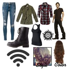 """Sam Winchester, The Boy With The Demon Blood"" by valeriepaul ❤ liked on Polyvore"