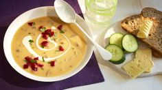 Waldpilzsuppe mit Rote Beete