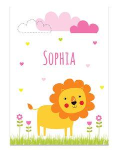 Poster met leeuw