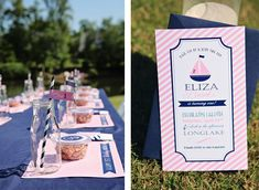 Preppy + Girly Nautical 1st Birthday Party - Kara's Party Ideas - The Place for All Things Party such a cute theme