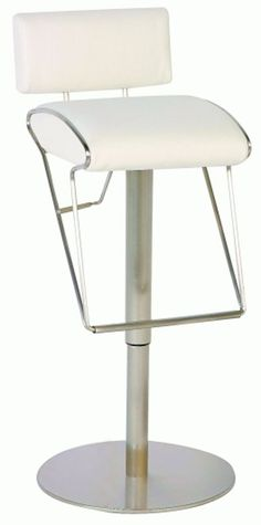 Pneumatic Gas Lift Adjustable Height Swivel Stool 0561-As-Wht