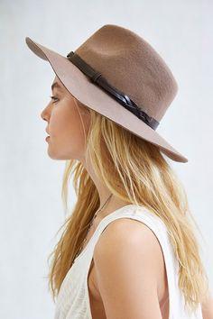 Braided Trim Felt Panama Hat - Urban Outfitters