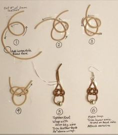 Judy Larson's Leather Celtic Knot Earrings Tutorial - The Beading Gem's Journal
