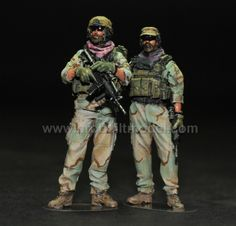 US Army Special Forces Team Leader & Team Sergeant SO C2 Element 1/35 Pro Built Model