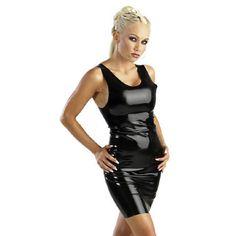 Latex sexy mini jurkje - Latex sexy mini jurkje, mini jurkje dat lekker strak om uw lichaam zit, om uw vormen nog beter te laten uitkomen. Kleur: Zwart. Gemaakt van kwaliteit latex.
