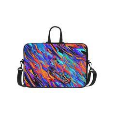 "Colorful Waves Splash Print Laptop Bag Laptop Handbags 15""."
