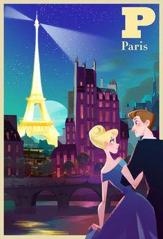 Love in Paris. art by mike yamada & victoria ying Art And Illustration, Illustration Parisienne, Illustrations And Posters, Paris Kunst, Paris Art, Art Parisien, Paris Poster, Guache, Arte Pop