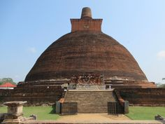 The Jetavanarama Dagoba in Anuradhapura, Sri Lanka, was the third tallest building in the world when constructed in the century BC, surpassed only by the Giza pyramids. Giza, Sri Lanka, Monument Valley, Third, Cities, Construction, World, Building, Nature