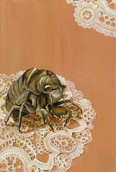 "Oil painting of cicada husk ""party guest"" #oilpainting #art #insects #cicada #lifestudy"