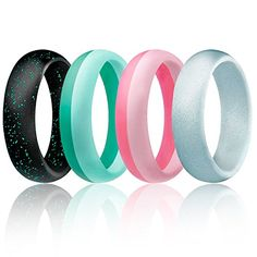 ROQ Silicone Wedding Ring For Men And Women 6mm Affordable Silicone Rubber B... Ausdauertraining