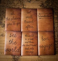 Personalized leather passport cover   gift ideas for travelers
