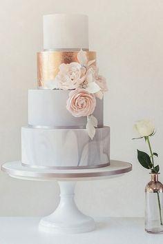 Gold Wedding Cakes Gold and Marble Wedding Cake Inspiration Elegant Wedding Cakes, Beautiful Wedding Cakes, Wedding Cake Designs, Wedding Cake Toppers, Beautiful Cakes, Dream Wedding, Wedding Cake Gold, Trendy Wedding, Colourful Wedding Cake