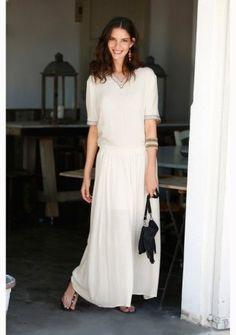 Dlhá sukňa #ModinoSK #boho #bohostyle Boho Style, Boho Fashion, White Dress, Dresses, Vestidos, Bohemian Fashion, Boho Outfits, Dress, Gown
