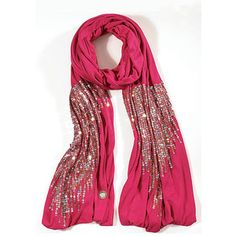 Sparkly pink scarf.