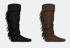 Crush pour les bottes à franges Minnetonka x Maje Totem <3 >> http://ptilien.fr/WPen