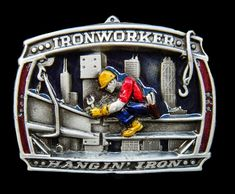 IRONWORKERS BELT BUCKLE MOHAWK TRADITION STEELWORKER NEW YORK OLD BELTS BUCKLES