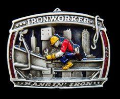 IRONWORKERS BELT BUCKLE MOHAWK TRADITION STEELWORKER NEW YORK OLD BELTS BUCKLES