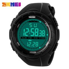 #DealOfTheDay #BestPrice SKMEI Brand 1025 LED Digital Mens Military Watch Men Sports Watches 5ATM Swim Climbing Fashion Outdoor Casual Men…