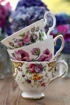 Vintage Teacups by saddleworthshindigs on flickr