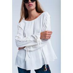 Sale - Cream flowing blouse