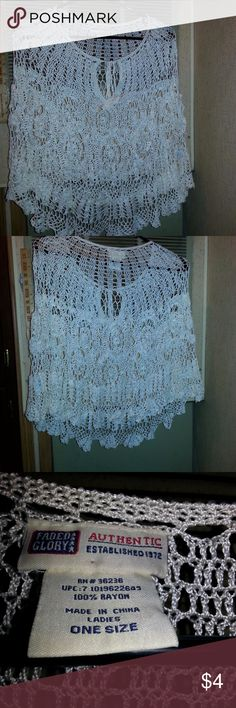 Womans Faded Glory Shawl Actual Pictures of Womans Faded Glory Shawl        I (slscsi) have 1200+ Positive Transactions on eBay.  Products are in Excellent Condition & Free of Dirt, Holes, Rips or Stains. Faded Glory Accessories Scarves & Wraps