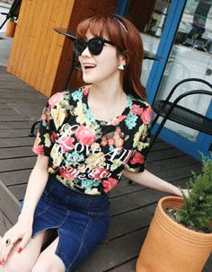 love all trust a few floral printed top  CODE: MGN257  Price: SG $39.95 (US $32.22)