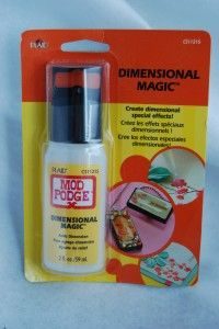 "I use Mod Podge for a lot of my projects. A LOT. But there are some projects that need that extra ""pop"" of a raised glaze, or to fill a bezel. Enter Mod Podge Dimensional Magic by Plaid. Now, back in the day, I was addicted to a glaze product by Plaid called Royal  Coat Dimensional Magic...but sad"